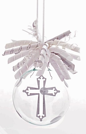 Silver Cross<br>Ornament