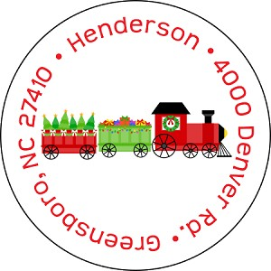 Christmas Train<br>Return Address Sticker