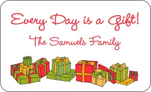 Every Day Gifts<br>Rectangle Gift Sticker