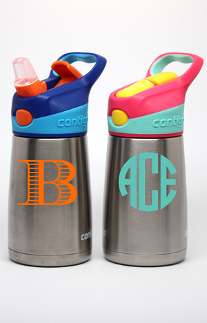 Monogrammed<br>10oz Insulated Metal Kid's Water Bottle