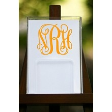 Monogrammed<br>Notepad Holder