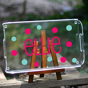 Name/Phrase Personalization:<br>Rectangular Butler's Tray