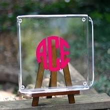 Monogrammed<br>Square Butler's Tray