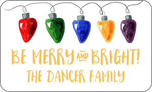 Merry and Bright<br>Rectangle Gift Sticker