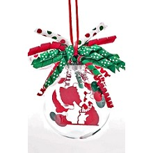 Santa with His Bag<br>Ornament