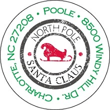 North Pole Stamp<br>Return Address Sticker