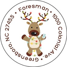 iPod Reindeer<br>Return Address Sticker