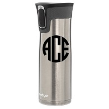 Monogrammed<br>Insulated Stainless Steel Coffee Tumblers